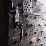 Porte façade sud de la Forteresse de Saint Vidal